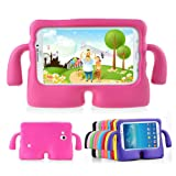 Lioeo Samsung Galaxy Tab 3/3 Lite 7.0 Case for Kids Rubber Shock Proof Protective Case Cover with Carry Handle for Samsung Galaxy Tab 3/3 Lite Tablet 7 inch Screen? (Color: hot pink, Tamaño: 7.0 inch)