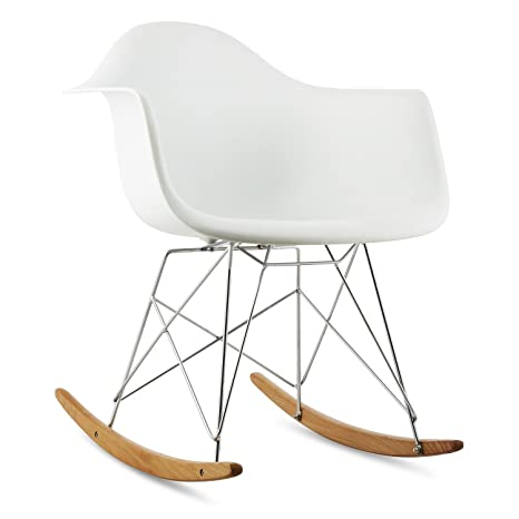 oneConcept Aurel • Schaukelstuhl • Schalenstuhl • Designstuhl • Retro-Stuhl • 70er Jahre Retro Look • Maße ca. 62 x 77,5 x 62,5 cm (BxHxT) pro Stuhl • breite Sitzfläche • hochwertige Hartplastik-Schale &b