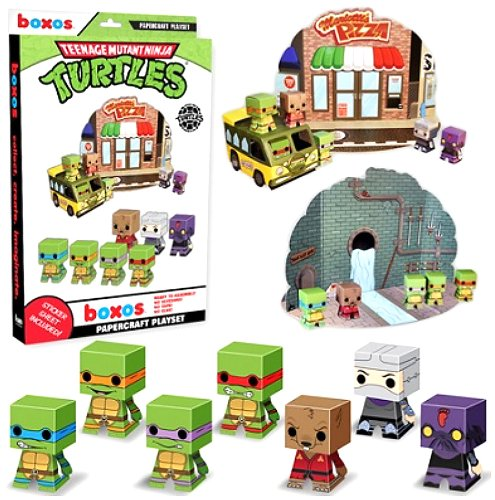 Funko Teenage Mutant Ninja Turtles Papercraft Playset - 1
