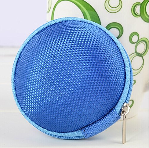 Noarks Portable Earphone / Usb Cable / Mp3 Smart Mash Bag Mobile In-Ear Headset Stereo Wired Sport Bag Holder Pouch Hold Box Pocket Hard Hold Protection Headsets Hard Eva Carrying Case/Bag (B-Blue)
