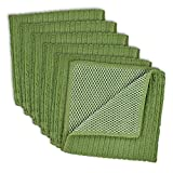 "DII Kitchen Millennium Cleaning, Washing, Drying, Ultra Absorbent, Microfiber Scrubber Cloth, 12x12"" (Set of 6) - Sage"