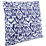 Benfan Canvas Square Decorative Throw Pillow Case Pure Cotton Cushion Cover Blue Abstract Decorative Pattern 20inch