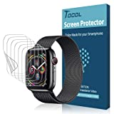[6 Pack] TOCOL for Apple Watch Screen Protector 40mm Series 4 Max Coverage HD Clear Bubble-Free iWatch 40mm Film with Lifetime Replacement Warranty