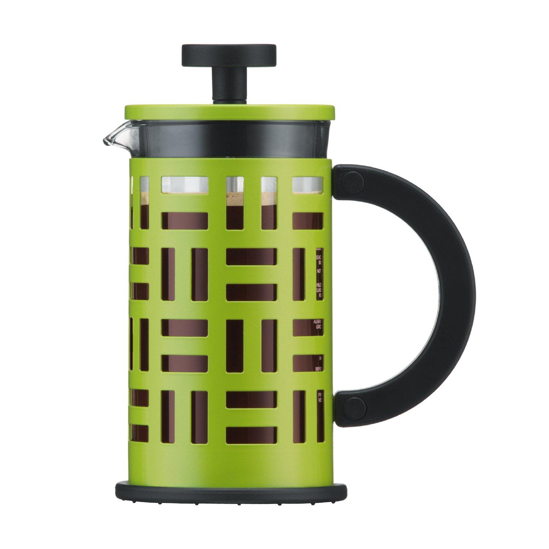 Cafetera de pistón con filtro de acero
