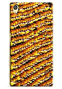 Omnam Pattern Made Of People Wearing Yellow Dress Printed Designer Back Cover Case For Sony Xperia Z5 Premium