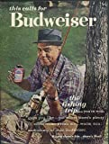 This calls for Budweiser Beer ad 1962 Negro spincasting fisherman