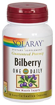 Отзывы Solaray - Bilberry One Daily, 160 mg, 30 capsules