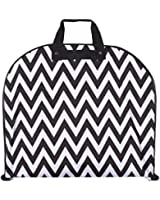 Ever Moda Chevron Zig Zag Prints - A Collection of Hanging Garment Bags (40-inch)