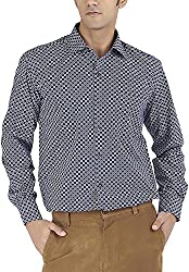 Silkina Men's Regular Fit Shirt (VPOI1400FBM, 44)