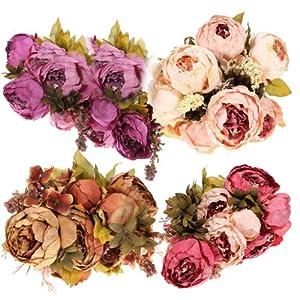 Artificial Peony Bouquet Artificial Silk Flowers Home