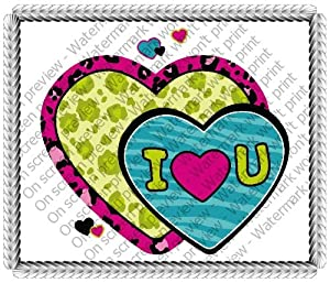 """3"""" Round ~ Wild About You Valentine's Day ~ Edible Image Cake/Cupcake Topper!!!"""