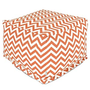 Remarkable Hot Majestic Home Goods Burnt Orange Zig Zag Ottoman Large Ocoug Best Dining Table And Chair Ideas Images Ocougorg