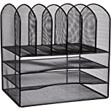 STYLISH Office Desk Organizer - No Assembly Needed - 33% more space than other brands - Avoids files, papers falling off. Perfect for thick textbooks, binders, files