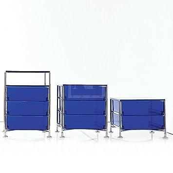 kartell 2021l2 container mobil 4 schubladen kobaltblau. Black Bedroom Furniture Sets. Home Design Ideas