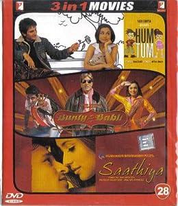 Hum Tum / Bunty Aur Babli / Saathiya(3 in 1 - 100% Orginal DVD Without Subtittle)