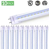Sunco Lighting 10 Pack 4FT 48 Inch T8 Tube LED Light Bulbs 18 Watt (40 Equivalent) Clear 5000K Kelvin Daylight 2000LM, Bright White Light, SINGLE Sided Connection Bypass Ballast - ETL & DLC LISTED (Color: 5000k - Daylight, Tamaño: 10 Pack)