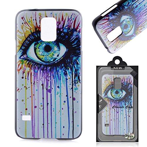 Samsung Galaxy S5 / S5 Neo Hülle Schutzhülle , Fierella Hardskin Ultradünnen Slim PC Bumper Hard Case mit Muster für ( 5.1 Zoll ) Samsung Galaxy S5 G900 i9600 SM-G903F Smartphone Handyhülle Tasche
