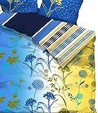 Tangerine Indigo Bay Cotton Double Duvet Cover - King Size, Multicolor (1440052)