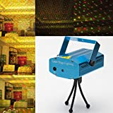 Jaz Deals Mini Red & Green Laser Projector Disco Party Bar Effect Lights Stage Lighting