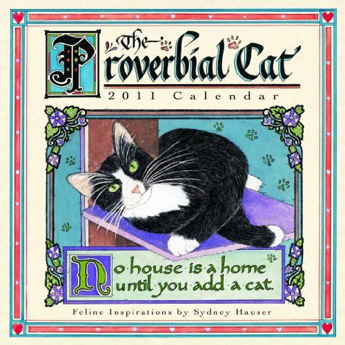 Proverbial Cat  2011 Mini Wall Calendar (Calendar)