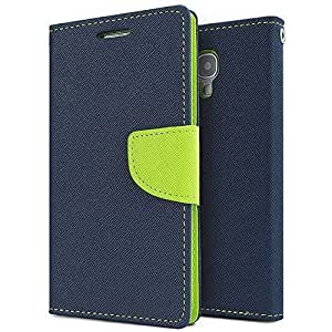 Aart Fancy Diary Card Wallet Flip Case Back Cover For HTC526 - (Blue) by Aart Store