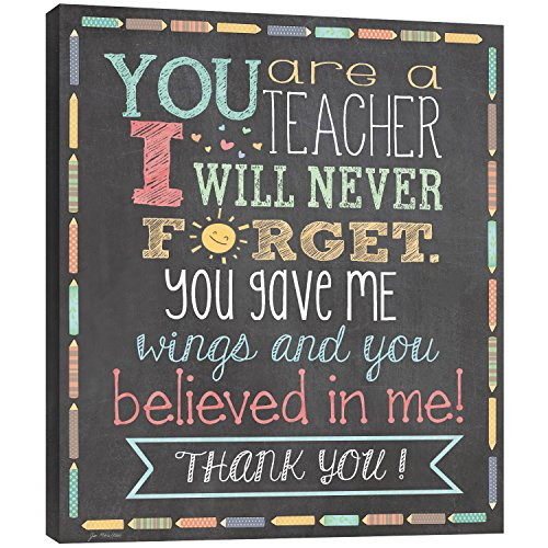 Tree-Free Greetings EcoArt Home Decor Wall Plaque, 11.25 x 11.25 Inches, Teacher Thanks Themed Teacher Gift Art (81218)