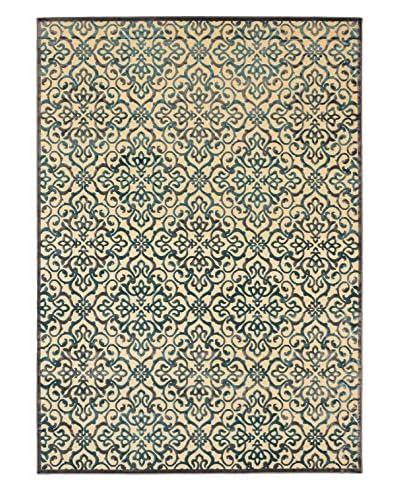Alhambra Rug, Cream/Turquoise, 7' 6 x 10' 6