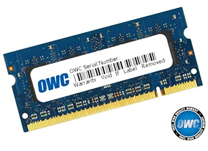 OWC 2GB PC2-6400 DDR2 800MHz SODIMM 200 Pin Memory Upgrade Module Major on 3rd for Apple iMac Intel April 2008, MacBook White 2.13GHz May 2009, PC Intel Core 2 Duos. Model OWC6400DDR2S2GB
