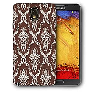 Snoogg Brown Pattern Printed Protective Phone Back Case Cover For Samsung Galaxy NOTE 3 / Note III