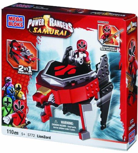 Mega Bloks Power Rangers Samurai 2 in 1 Vehicle LionZord with Samurai Red Ranger #5772 (Power Rangers Lego compare prices)