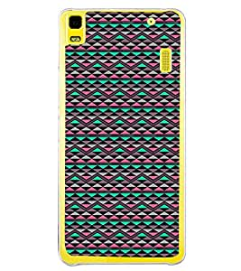 Colourful Pattern 2D Hard Polycarbonate Designer Back Case Cover for Lenovo K3 Note :: Lenovo A7000 Turbo