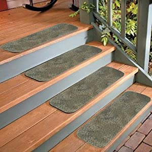 """4 Stair Treads Indoor Outdoor Carpet Non Slip Staircase Step Rug Home 16""""X5.5"""" !"""