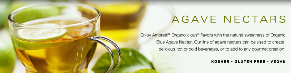 Amoretti Agave Nectars for Coffee, Tea and Beverages; Organic Agave Nectars