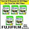 Fujifilm: Lot de 5 paquets de 20 films Instax wide