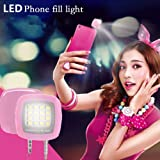 RULONG 16 LED 3.5mm Plug Smart Selfie Flash Camera Light Lamp For Smartphone (Color: White)
