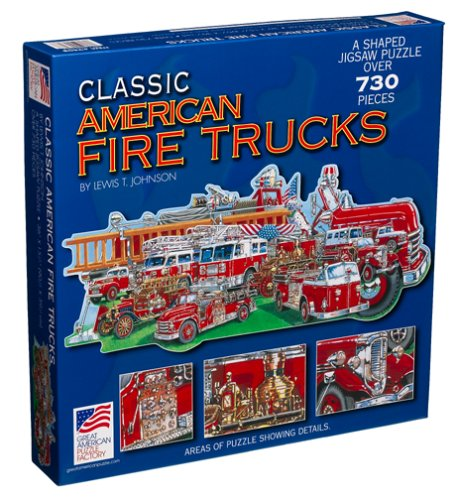 Cheap Great American Classic American Fire Truck Jigsaw Puzzle 730pc (B000094VKG)