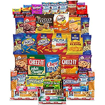 Snacks Care Package Gift Assortment (50 Count) from Snack Chest