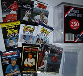 Baseball Card Pack Gift Set - Sports Cards Birthday or Christmas Lot - 10 Different Unopened Baseball Packs from the Recent Past! Pull Rookies, Autographs or Memorabilia Cards ??? - Comes with Storage Box and Sleeves - Sportscards & Trading Cards Collecting