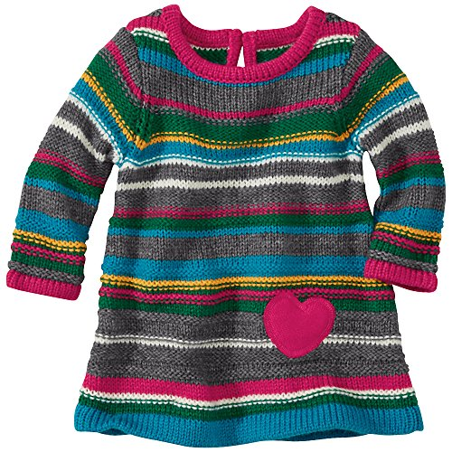 Hanna Andersson Baby Cozy Up Sweater Dress, Size 90 (36 Months), Stormy Grey Multi front-856180
