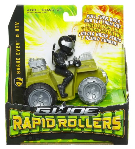 GI Joe Movie Rapid Rollers Snake Eyes in ATV