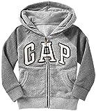 GAP(ギャップ)baby GAP フード付き ロゴ ボーダー ラグラン パーカー(灰色×濃灰色)【月齢:2歳】(並行輸入品) (2YRS(2歳))