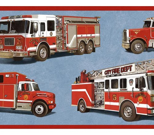 Fire Truck Wallpaper Border