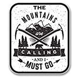NI383 **2-Pack** The Mountains Are Calling 2 Sticker/Decal | Premium Quality Vinyl Sticker | 4-Inches by 3.5-Inches