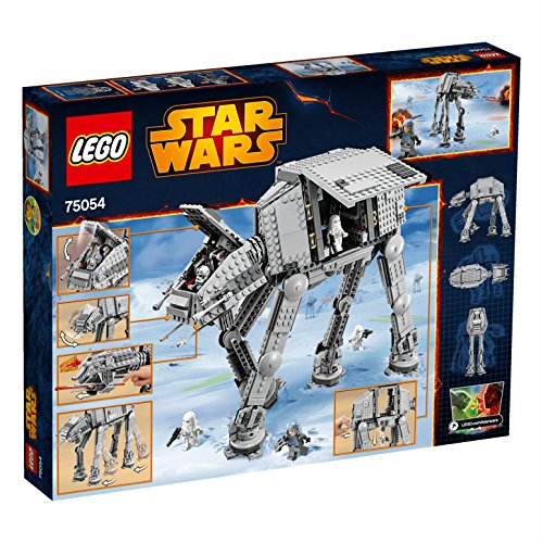 The AT-AP, part of the LEGO Star Wars range, features posable legs, retractable third leg, opening side doors, opening roof, cockpit with space for two minifigures, elevating main gun, turning top-mounted spring-loaded shooter, and gun travel lock. Weapons include three blasters and a Wookiee long-gun, and the accessory is a pair of adult3dmovie.mls: