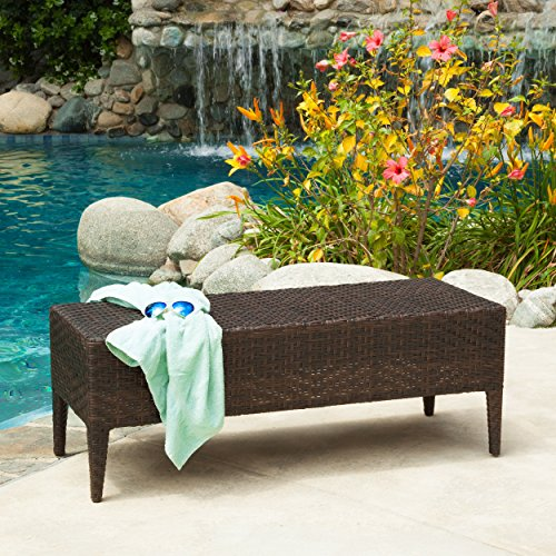 Hobbes Multibrown Outdoor Wicker Bench picture