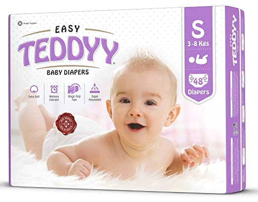 Teddyy Easy Baby Small Size Diaper (48 Count)