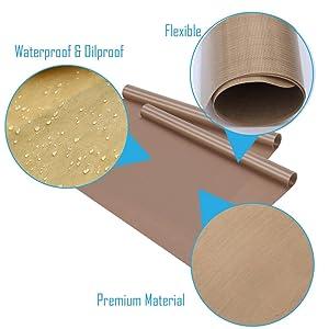 Selizo 10 Pack PTFE Teflon Sheet for Heat Press 16 x 24 Non Stick Heat Resistant Craft Mat