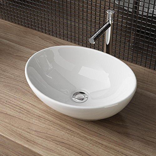 Design Waschbecken, Keramik, Weiß