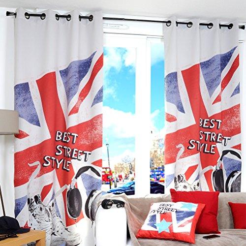 London 2012, Lovely Casa, Tenda con occhielli Best Street-London, in voile trasparente