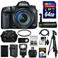 Canon EOS 7D Mark II GPS Digital SLR Camera & EF-S 18-135mm IS STM Lens with 64GB Card + Grip + Case + Battery & Charger + Tripod + Flash + Kit